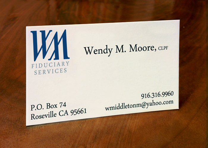 Wendy Moore Fiduciary - Business Card