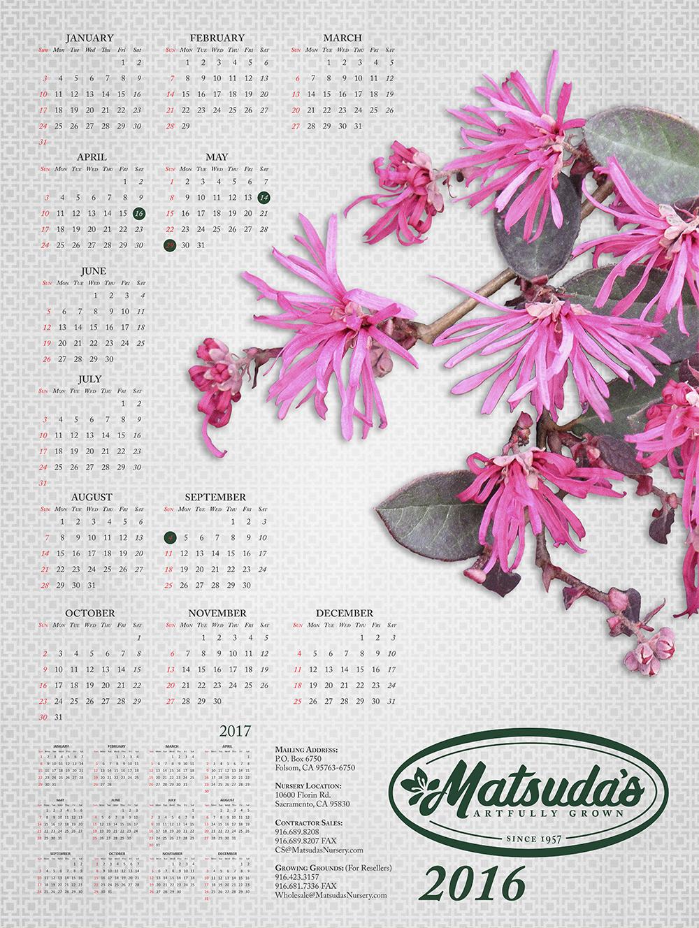 Matsuda's 2016 Calendar