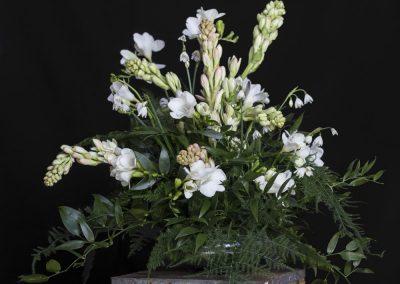 Flower Bouquet Black