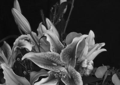 Flower Bouquet B&W