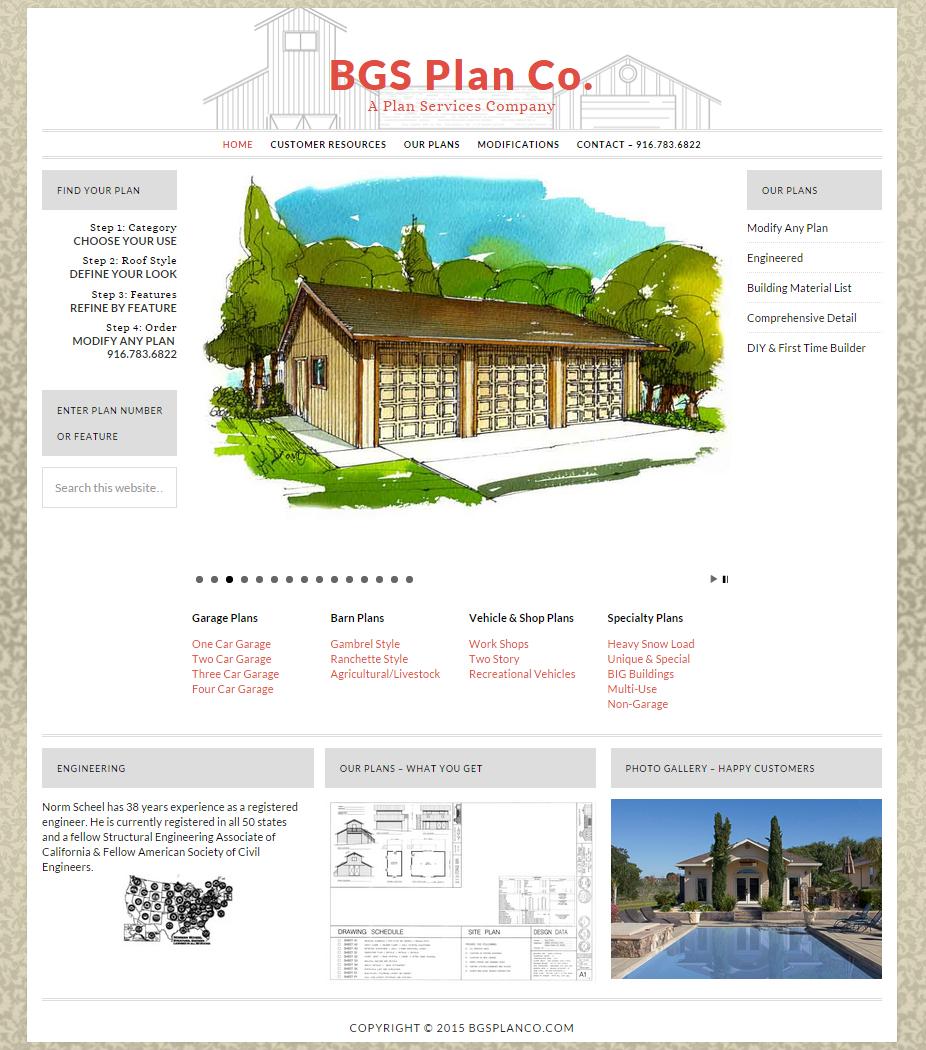 BGS Plan Company - Modern styling update